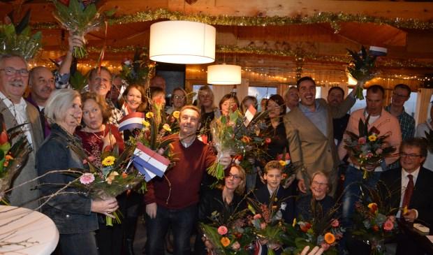 Alle winnaars van golfclub De Texelse uit 2016 werden gehuldigd.