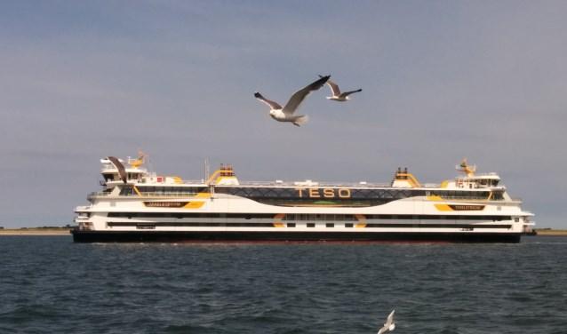 De Texelstroom afgelopen vrijdag tijdens een proefvaart op de Waddenzee.