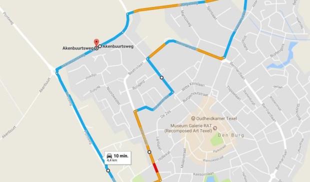 Plattegrond van TopGear voor een 'Formule 1 race' op Texel...