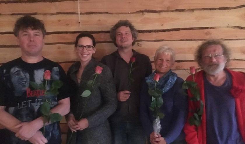 Nils Lely, Lara Kiljan, Remko van de Belt, Yolanda Legierse en Dries Veltkamp.