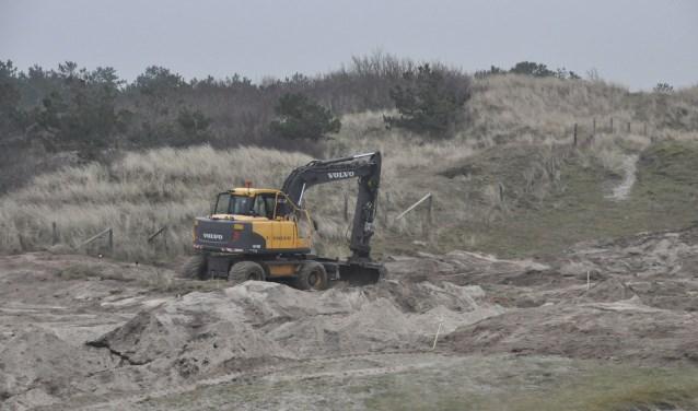 Graafwerkzaamheden op Kogerstrand in 2015.