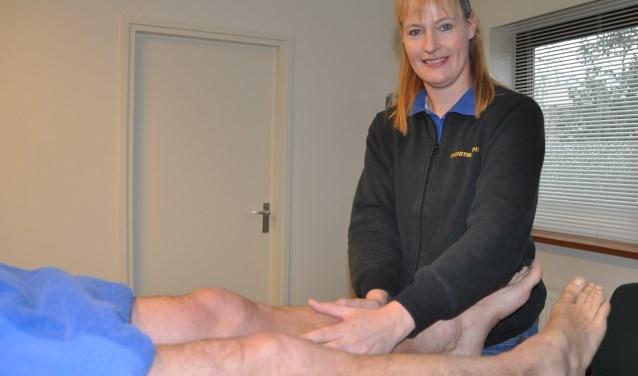 Mariska Pol: manuele behandeling lymfeknopen voor afvoer vocht.
