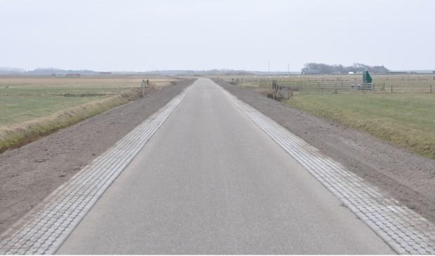 De verbrede Watermolenweg bij Den Hoorn.