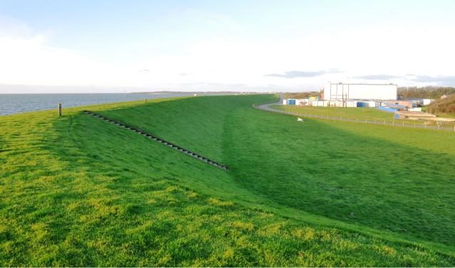 De voorlanddijk bij het NIOZ.