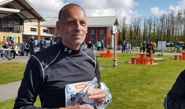 Remko Nagtegaal na het voltooien van de 60 kilometer.