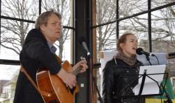 Aart van den Brink en Roos Dros in het Glazen Paleis.