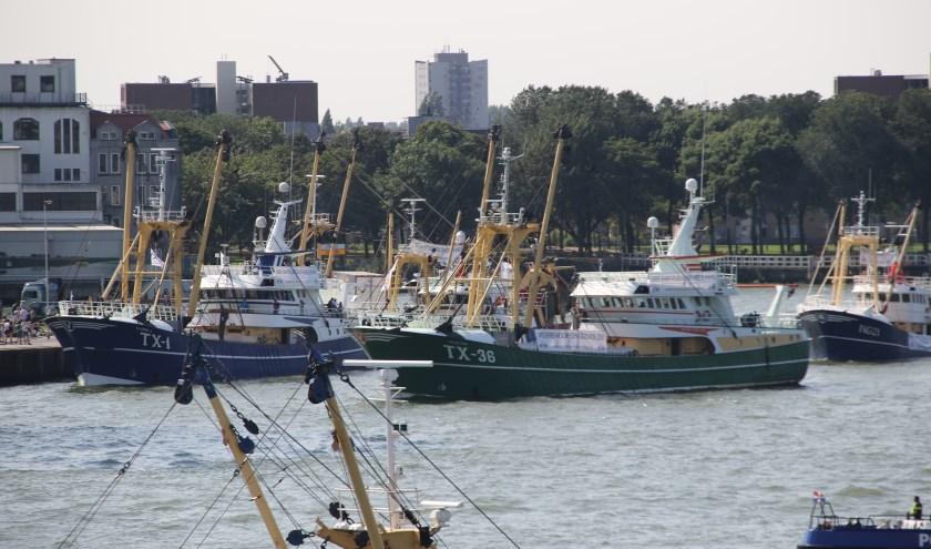 Noordzeevissers protesteerden vorig jaar in Rotterdam tegen de aanlandplicht.