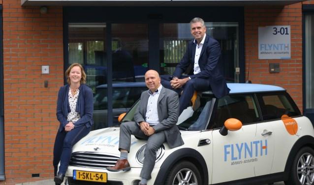 Isabel van der Star, Hans Scholte en Robér Gitzels van Flynth Adviseurs en Accountants.