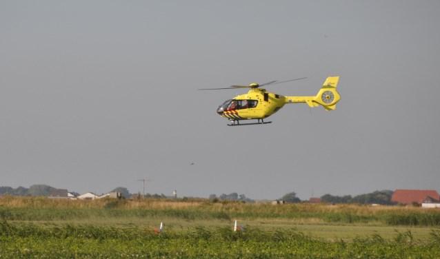 De traumahelikopter kwam in actie.