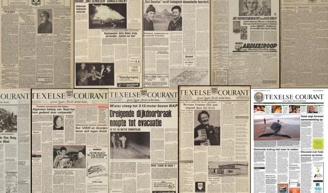 Texelse Couranten door de jaren heen.