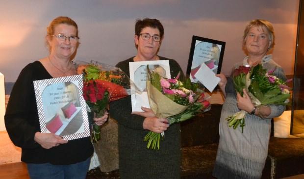 Van links naar rechts: Inge Lodewijks, Chantal Kuip en Ans Boogaard.