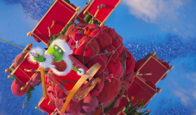 The Grinch (Benedict Cumberbatch) discovers the perils of stealing Christmas in Dr. Seuss' The Grinch from Illumination.