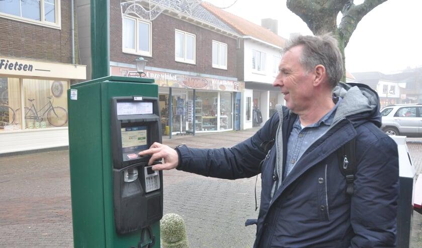Een van de gedigitaliseerde parkeerautomaten voor het Texelvignet.