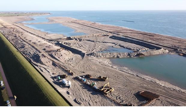 Het nieuwe gebied langs de PH-zanddijk.