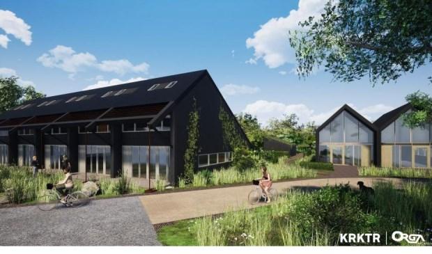 Impressie van de vijftien nieuw te bouwen duurzame koopwoningen in De Tuunen.