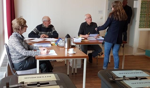 Het stembureau in Oosterend.