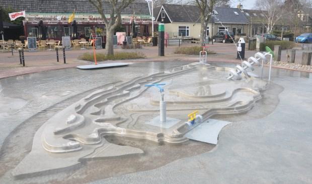 De nieuwe waterspeelplaats in De Cocksdorp.