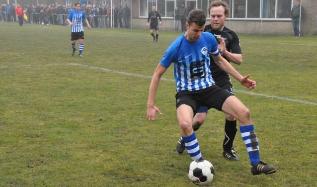 ZDH eerder dit jaar in de derby tegen De Koog.