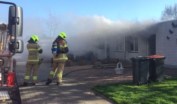 De brand aan de Sluyscoog in Den Burg.