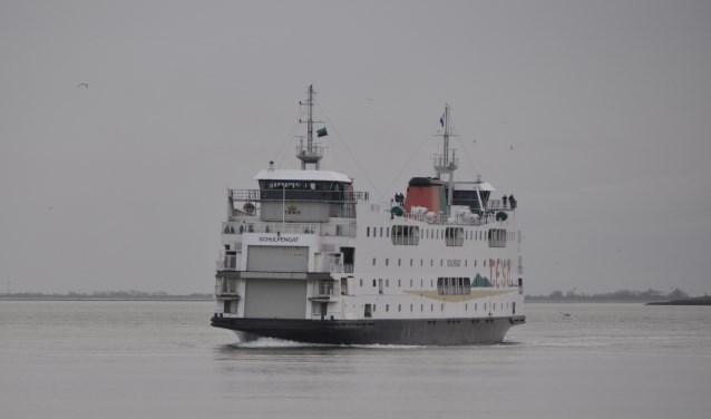 De Schulpengat was op 21 januari nog één keer in de vaart als veerboot tussen Texel en Den Helder.