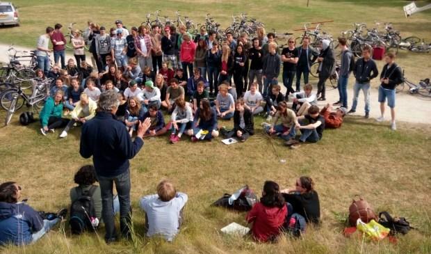 Studenten komen onderzoek doen op Texel.