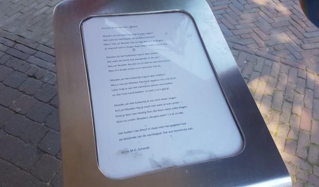 De lezenaar in de Parkstraat in Den Burg.