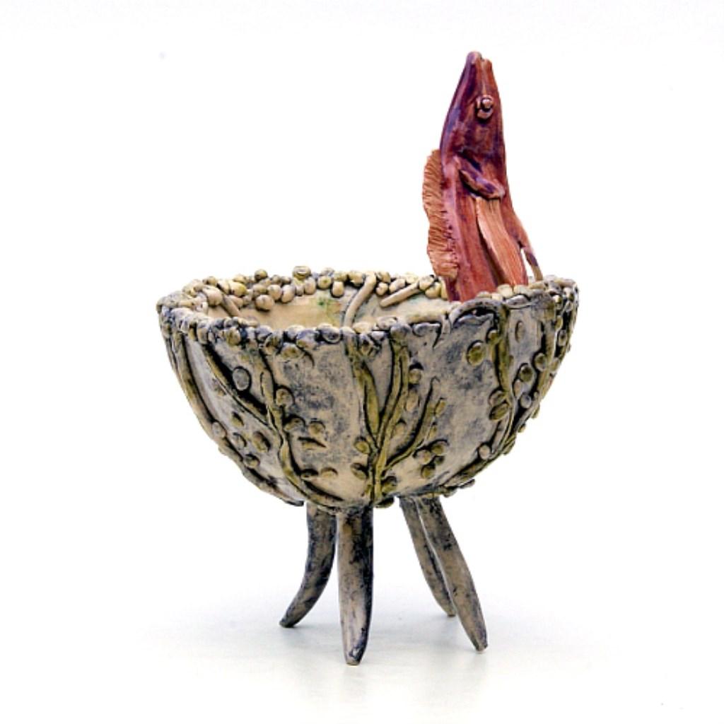 Gerrie Lulof: Vissenkom (keramiek) in Galerie Posthuys  © Mediabureau Langeveld & De Rooy