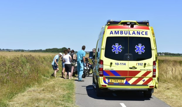 De ambulance in actie op de Stolpweg