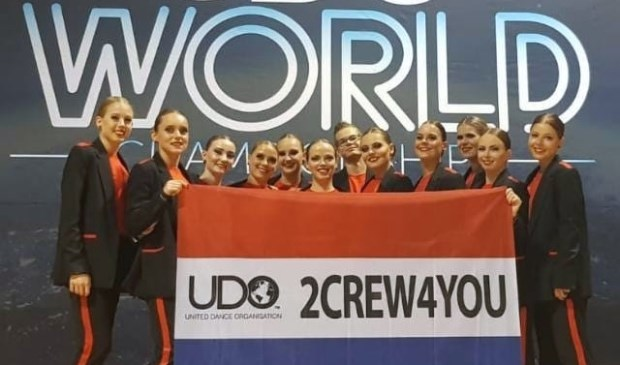 De 2Crew4You op het WK in Glasgow.