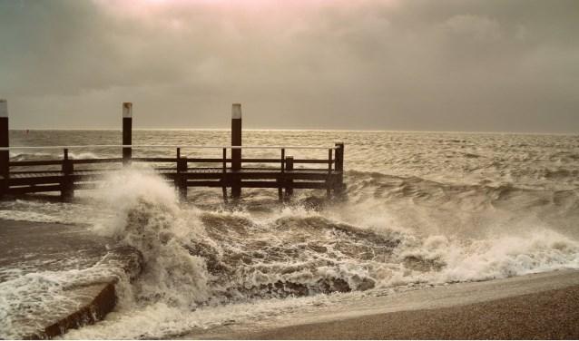 Storm bij Oudeschild