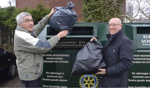 De Rotary ziet de ingezamelde kleding het liefst in dichtgemaakte plastic zakken.