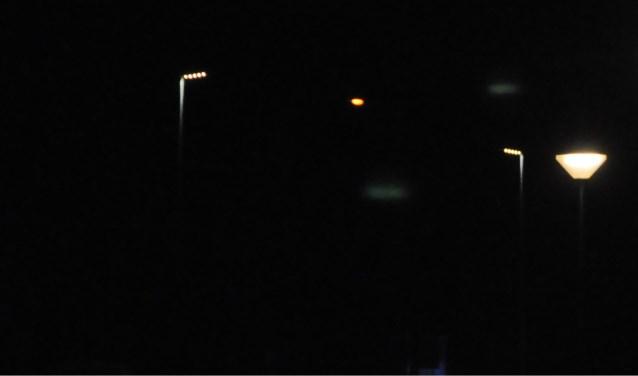 Nachtelijke verlichting in Den Burg.