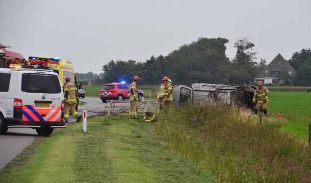 Hulpverlening bij het ongeval ter hoogte van De Waal.