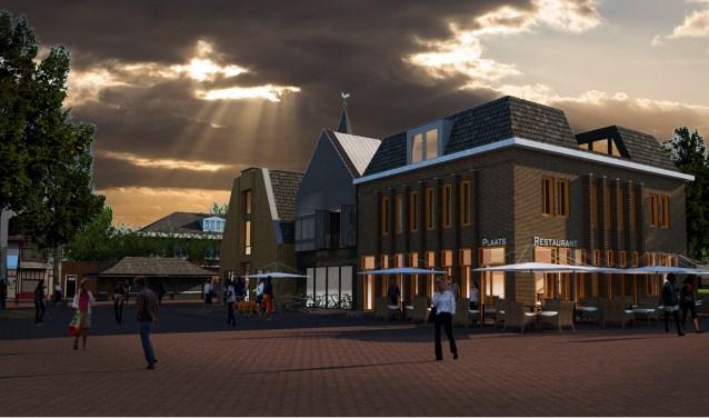 Impressie van de nieuwbouw op de Groeneplaats in Den Burg.