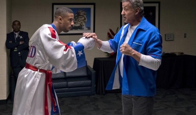 Michael B. Jordan en Sylvester Stallone in Creed 2.
