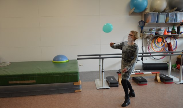 In de oefenruimte van Therapie Wolf.