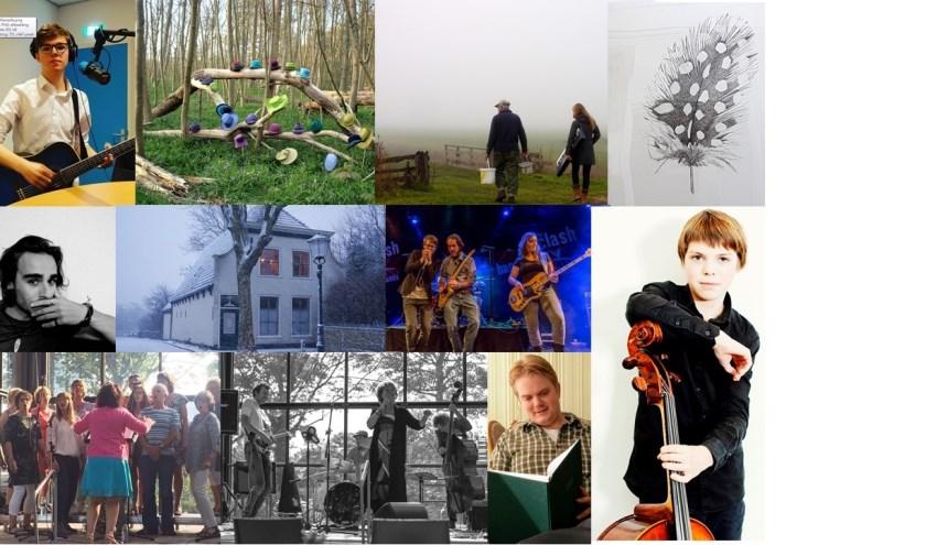 Een greep uit de vele optredens, voorstellingen en locaties tijdens Cultuurnacht Texel in De Waal.