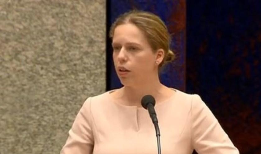 Visserijminister Carola Schouten tijdens het vragenuur in de Tweede Kamer.
