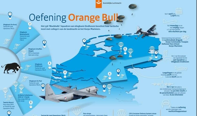 Deze infographic van Defensie geeft een overzicht van de oefening.