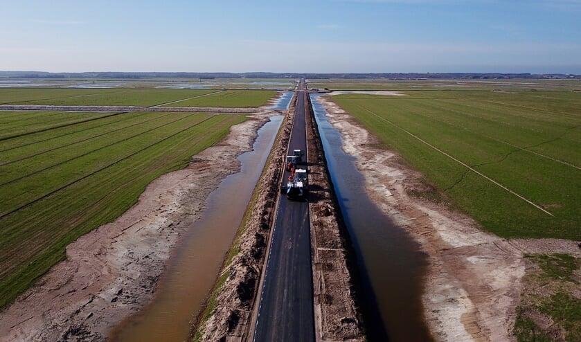 De vernieuwde Staart in polder Waalenburg.