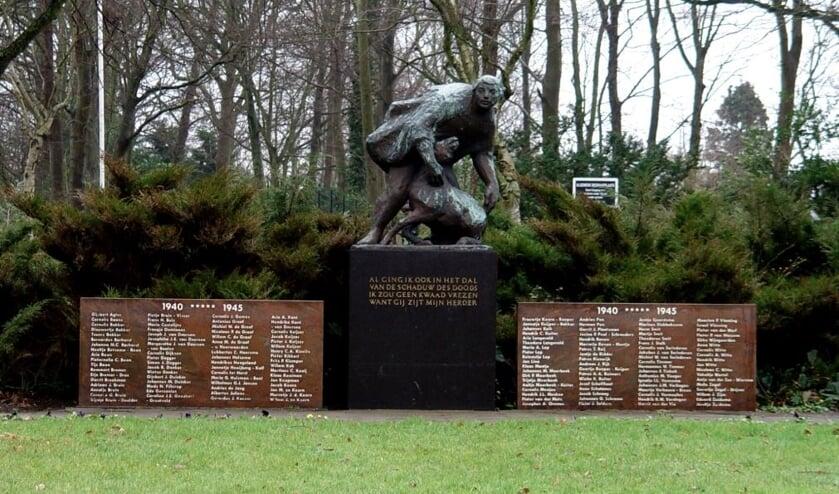 Oorlogsmonument De Goede Herder bij de ingang van de begraafplaats aan de Kogerstraat
