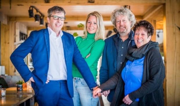 Vlnr Joost Coutinho, Esther Blom, Martin Trap en Inge Veeger-Van Heerwaarden.