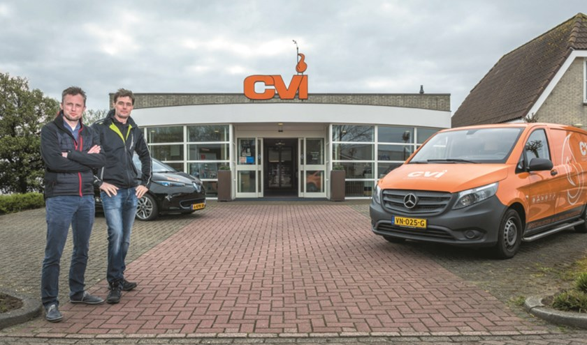 Peerke Reijnders en Danny Westerlaken van CVI Texel.