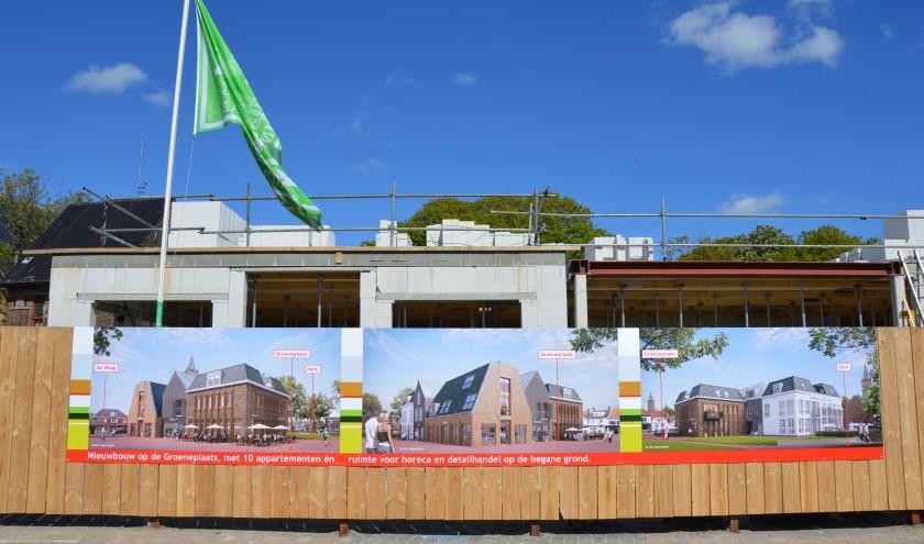 Impressie van de nieuwbouw op de Groeneplaats.
