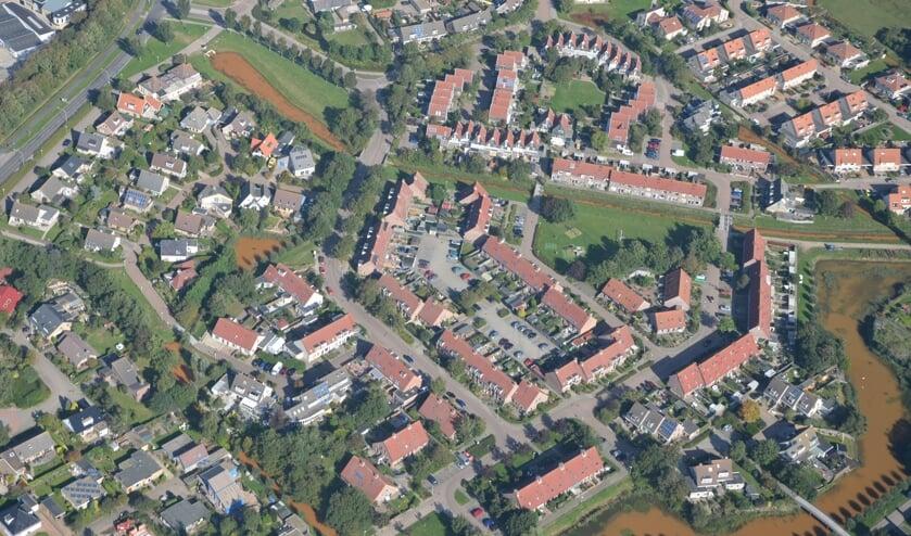 Woonwijk De Mars vanuit de lucht.
