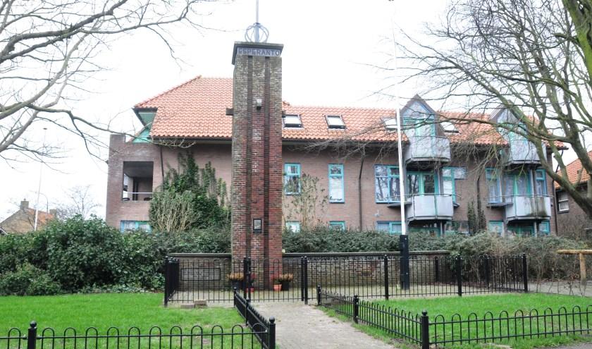 Het Esparanto monument aan de Kogerstraat.