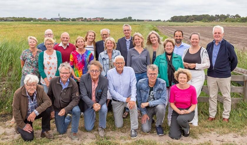 Bestuurders en oud-bestuurders van het Texelfonds kwamen bijeen.