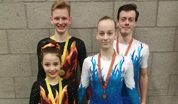 De acrogymnasten van GVV Feanwâlden