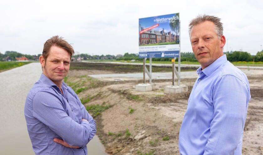Dennis Heins en Wytze Brandsma bij een project in Wiarda, Leeuwarden.