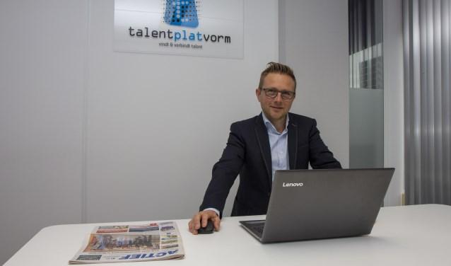 David Toering van Talentplatvorm in Drachten was op zijn veertiende krantenbezorger.